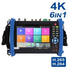 7 Inch All in One IPS Touch Screen IP Camera Tester Security CCTV Tester Monitor with SDI/TVI/AHD/CVI/DMM/TDR/OPM/VFL/POE/WIFI/4K H.265/1080p HDMI In&